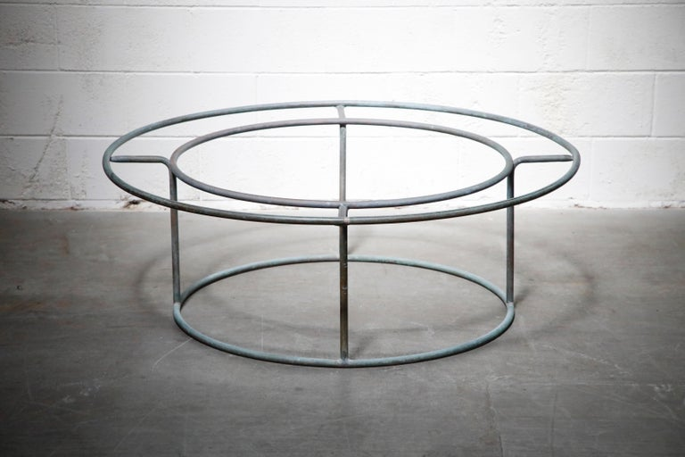 Large Copper Coffee Table by Walter Lamb for Brown Jordan In Good Condition For Sale In Los Angeles, CA