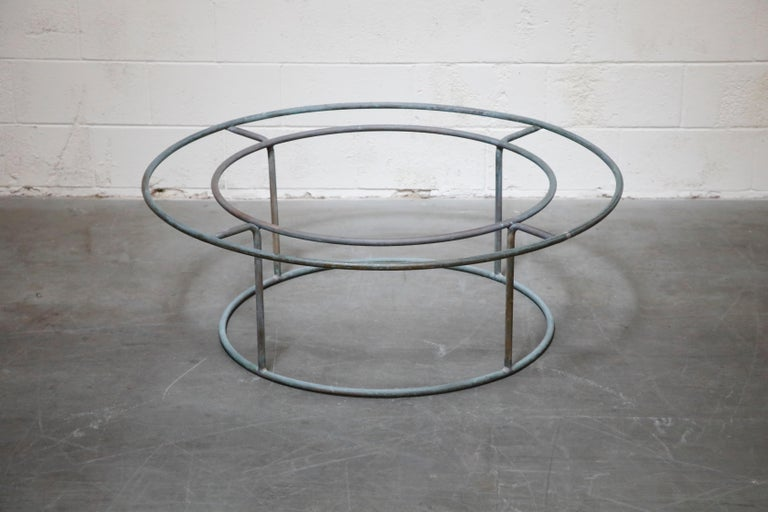 Mid-20th Century Large Copper Coffee Table by Walter Lamb for Brown Jordan For Sale