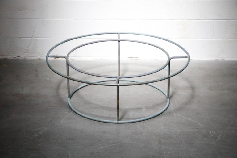 Large Copper Coffee Table by Walter Lamb for Brown Jordan For Sale 1