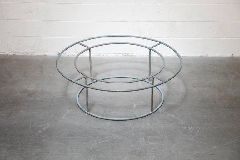 Large Copper Coffee Table by Walter Lamb for Brown Jordan For Sale 2