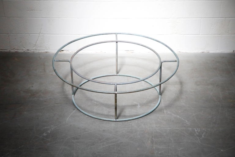 Large Copper Coffee Table by Walter Lamb for Brown Jordan For Sale 3