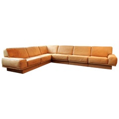 Large, 6 Piece, Sectional Corner Sofa by De Sede, Switzerland