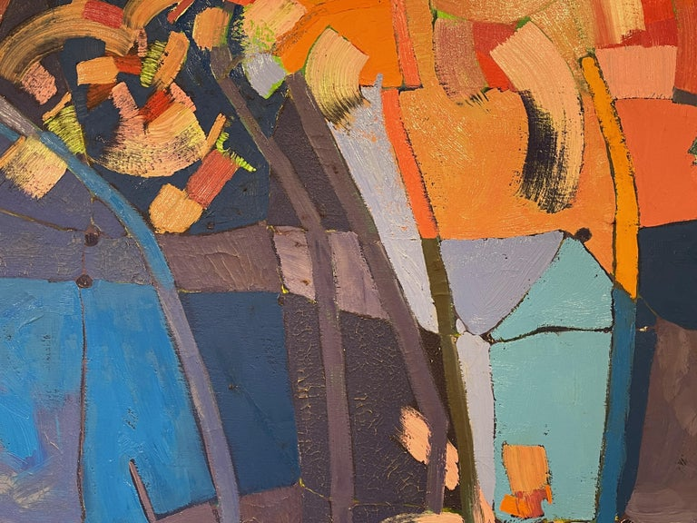 Late 20th Century Monumental Abstract Contemporary Oil on Linen Painting by Martorana, Australia For Sale