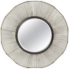 Large Brutalist Style Mirror