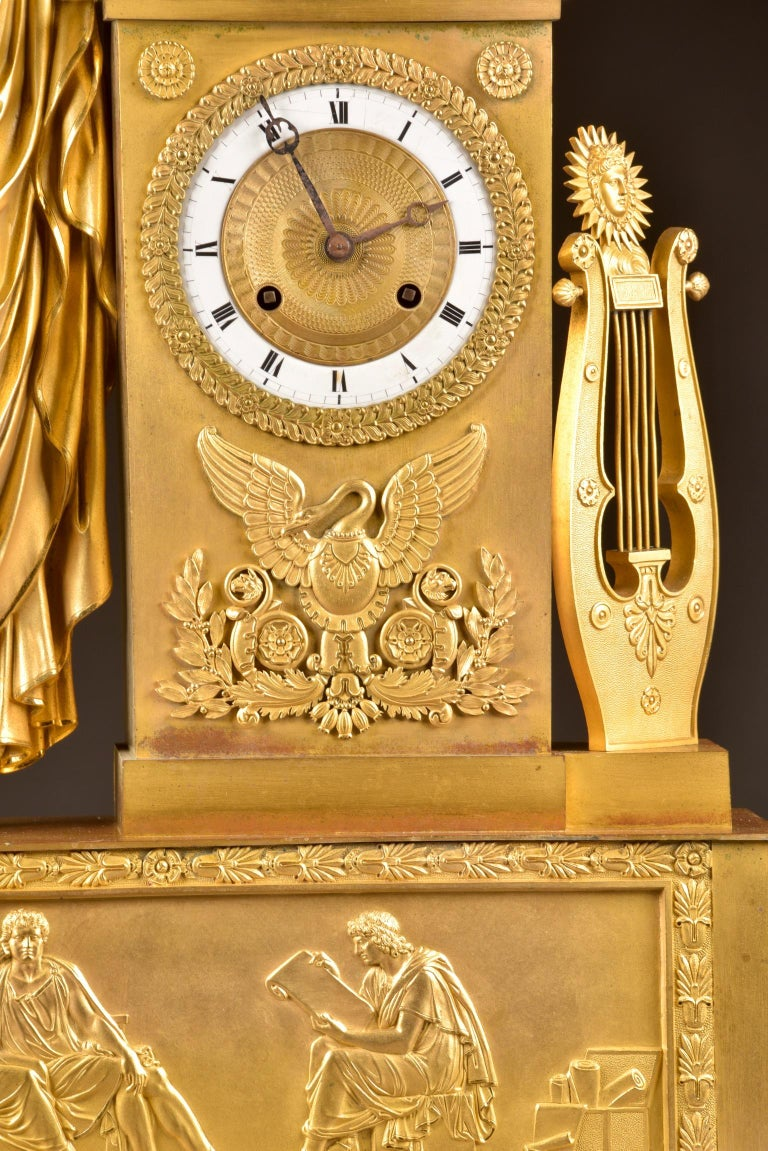 Large ( 73 cm) Empire French, Neoclassical Style Ormolu, 1805 For Sale 4