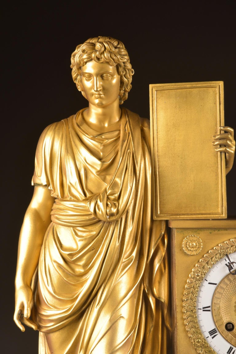 Large ( 73 cm) Empire French, Neoclassical Style Ormolu, 1805 For Sale 7