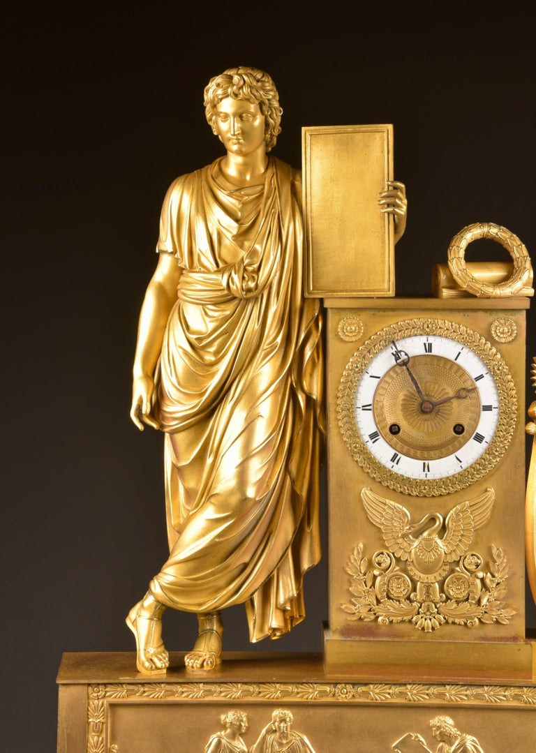 Gilt Large ( 73 cm) Empire French, Neoclassical Style Ormolu, 1805 For Sale