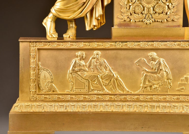 Large ( 73 cm) Empire French, Neoclassical Style Ormolu, 1805 For Sale 3