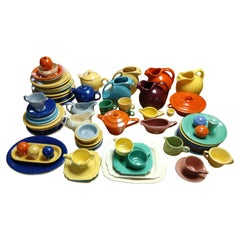 Mid Century 80+ Pieces Fiesta Harlequin Riviera Collection-Rare Pieces Include