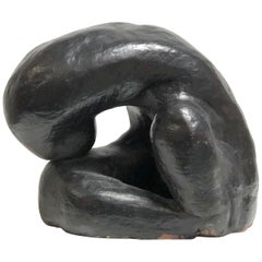 Large Abstract Biomorphic Ceramic Sculpture Jean Arp Style