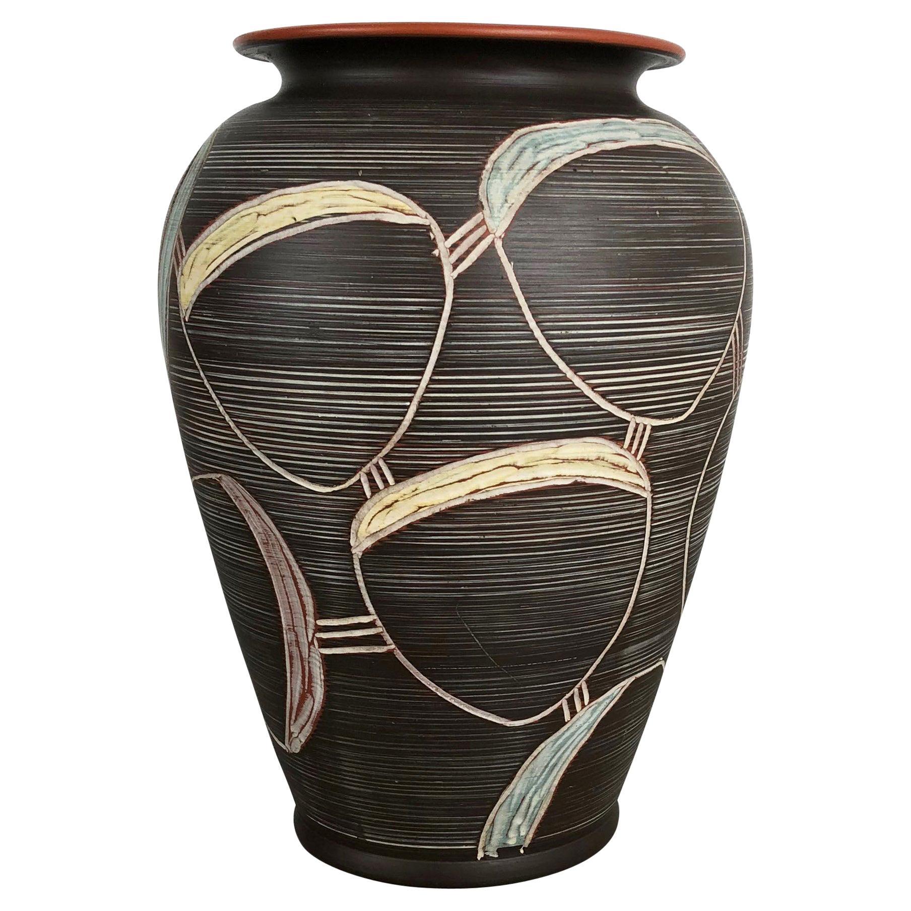 Large Abstract Ceramic Pottery Vase by Sawa Franz Schwaderlapp, Germany, 1950s