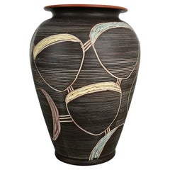 Large Abstract Ceramic Pottery Vase by Sawa Franz Schwaderlapp, Germany, 1950s