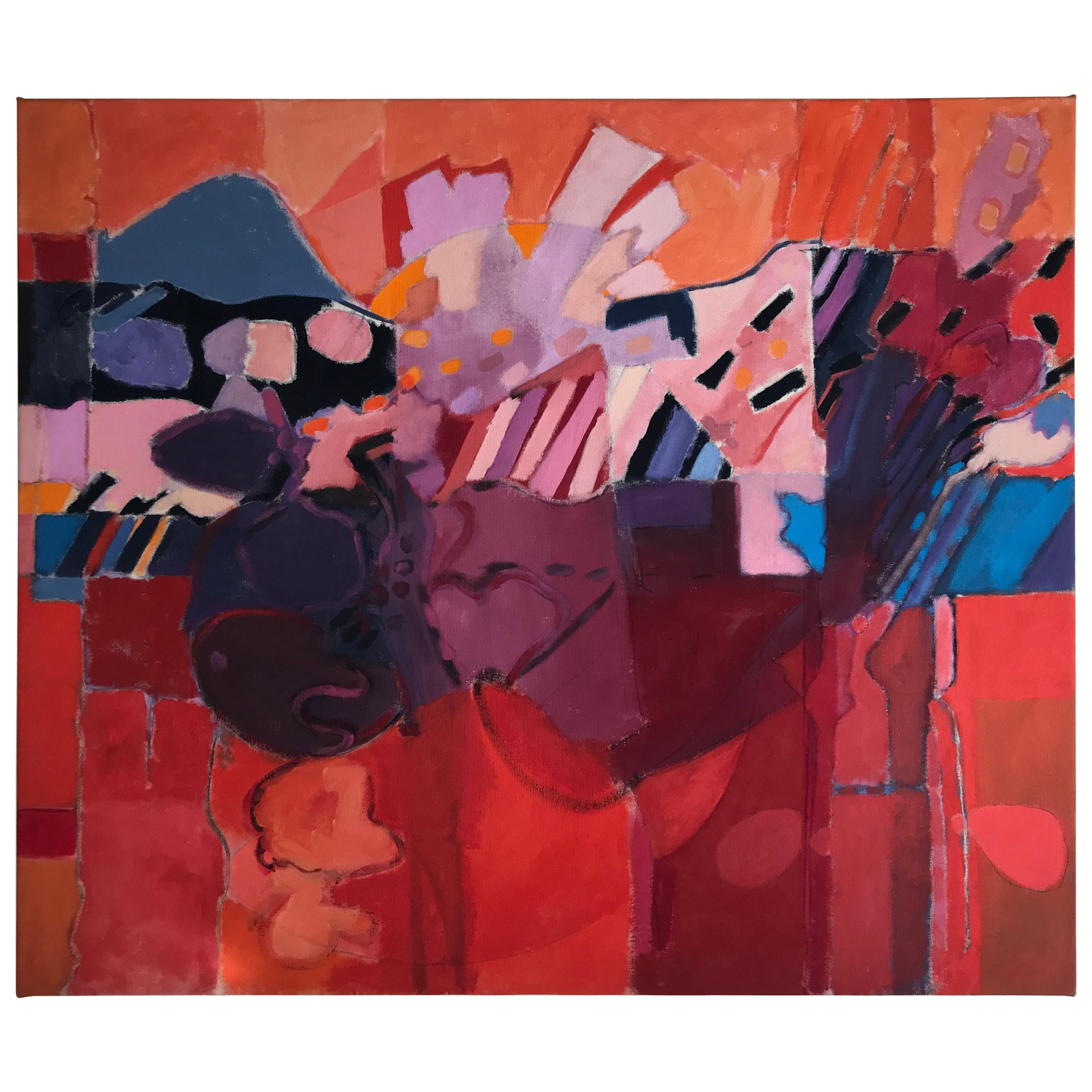 Large Abstract Expressionist Oil Painting by Wesley Johnson