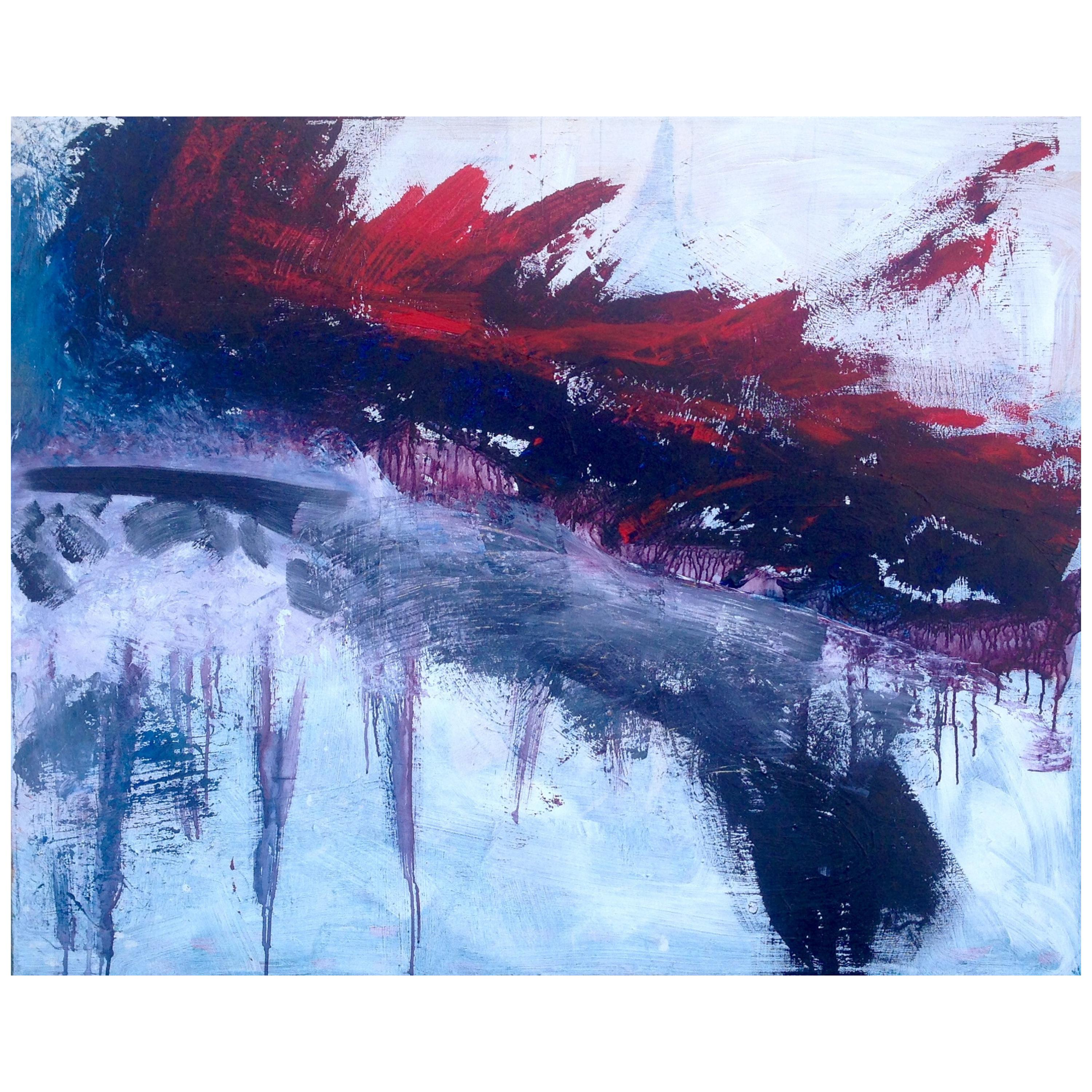 Large Abstract Expressionist Painting by American Artist, Suzanne Clune, 2016
