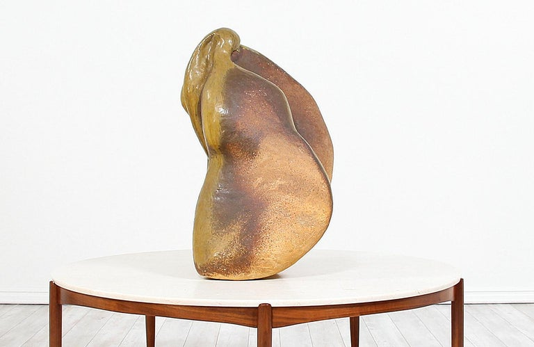 Large Abstract Glazed Ceramic Sculpture In Good Condition For Sale In Los Angeles, CA
