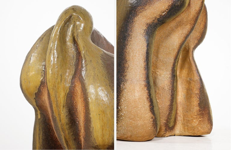 Large Abstract Glazed Ceramic Sculpture For Sale 2