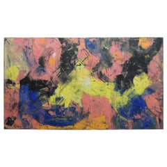 Large Abstract Modern Art Painting by Monaco Artist Patou