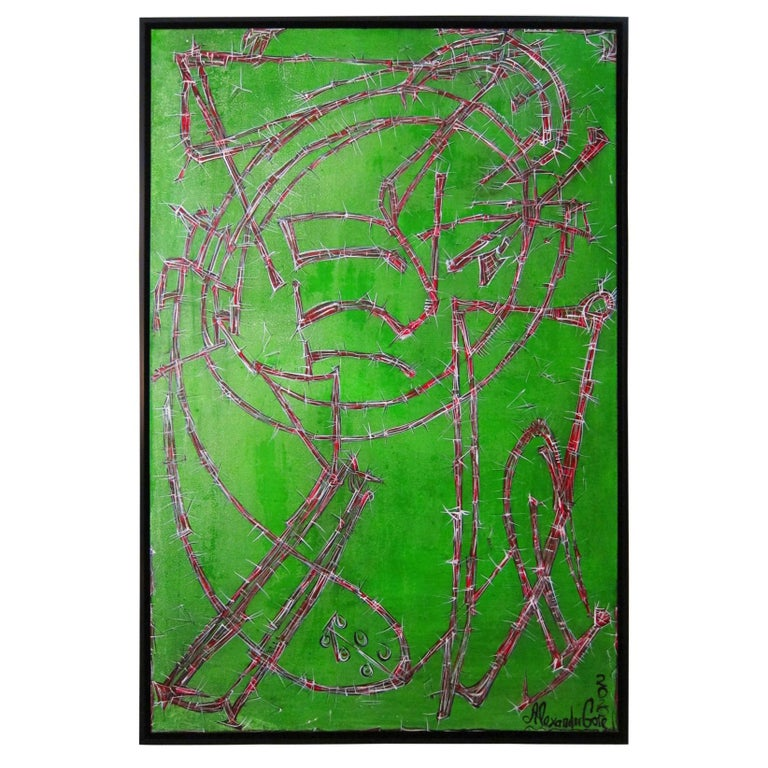 Large Abstract Oil Painting, Alexander Gore For Sale