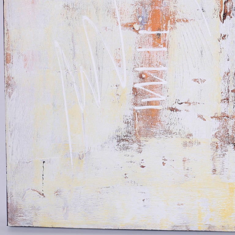 Large Abstract Oil Painting on Canvas In Good Condition For Sale In Palm Beach, FL