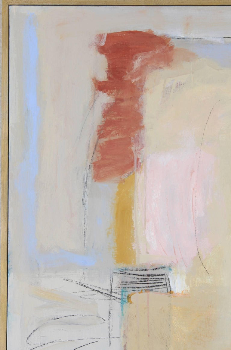 American Large Abstract Painting by Claiborne Riley  For Sale