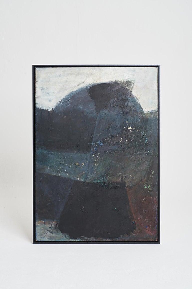 Mid-Century Modern Large Abstract Painting by Kari Mjåtveit For Sale