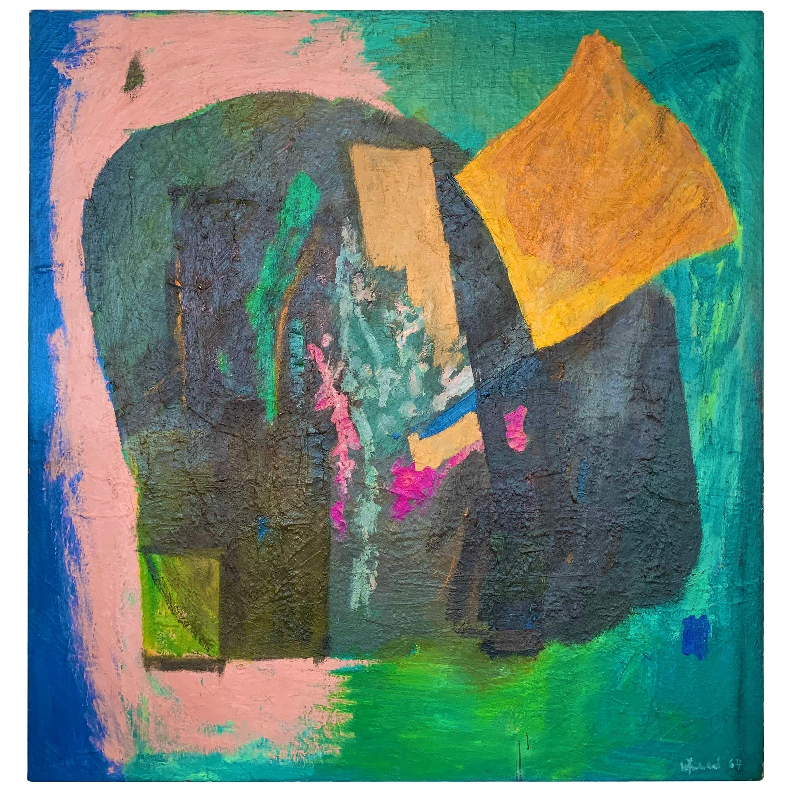Large Abstract Painting by William Freed