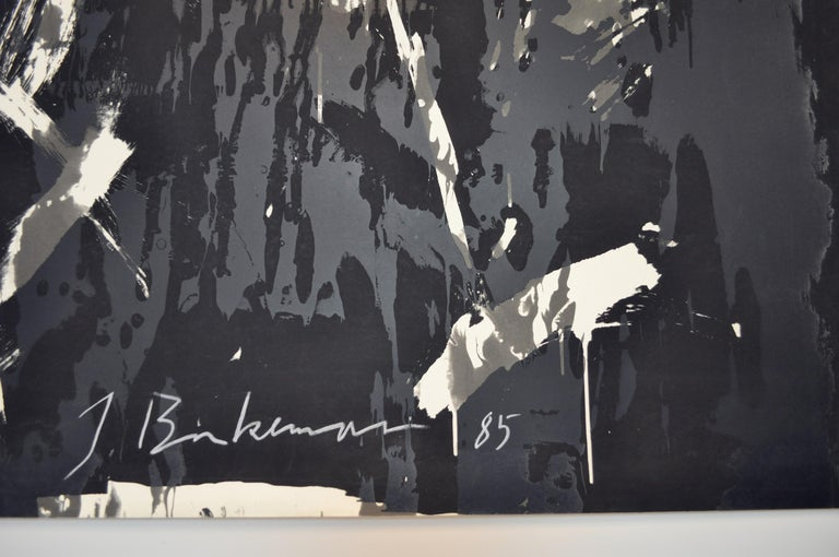Post-Modern Large Abstract Screen Print by the Danish Artist Jens Birkemose For Sale