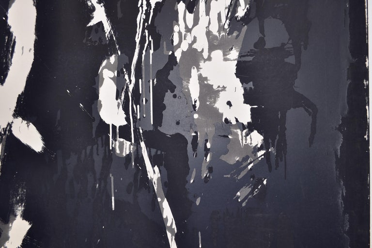 Large Abstract Screen Print by the Danish Artist Jens Birkemose In Good Condition For Sale In Vordingborg, DK