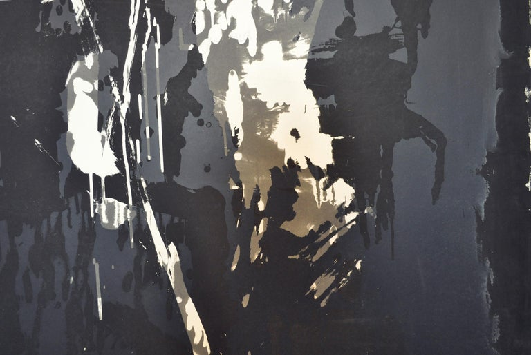 Late 20th Century Large Abstract Screen Print by the Danish Artist Jens Birkemose For Sale