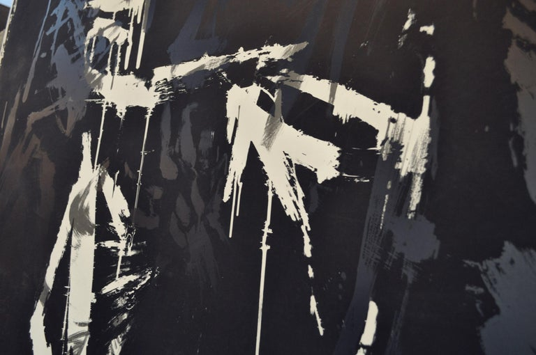Large Abstract Screen Print by the Danish Artist Jens Birkemose For Sale 1