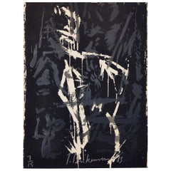 Large Abstract Screen Print by the Danish Artist Jens Birkemose