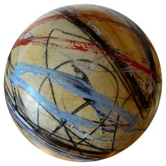 Large Abstract Sphere Sculpture by Yuri Zatarain