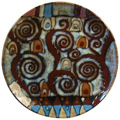Large Abstract Studio Art Pottery Charger