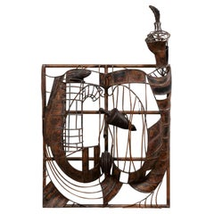 Large Abstract Wall Sculpture/Art Installation in Copper