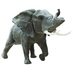Large African Elephant Sculpture by Vincenzo Romanelli