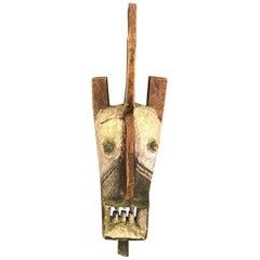 Large African Gurunsi Burkina Faso Wood Carved Mask