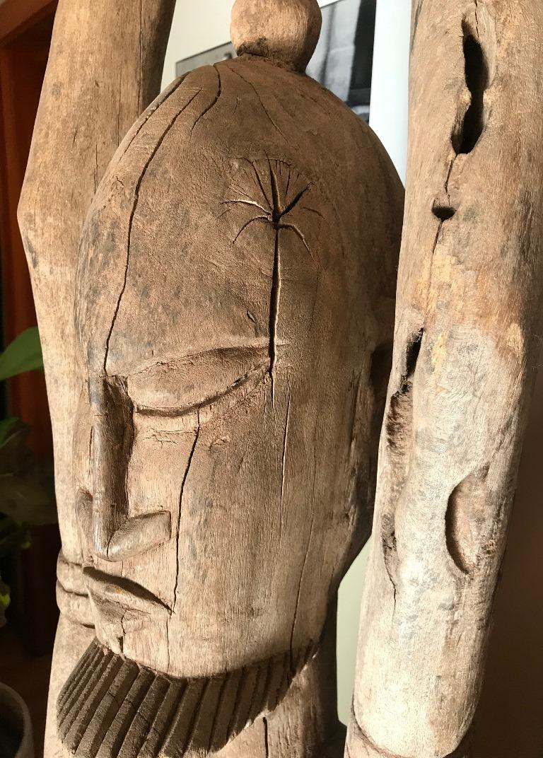 Large African or Dogon Carved Tintam Figure For Sale 2