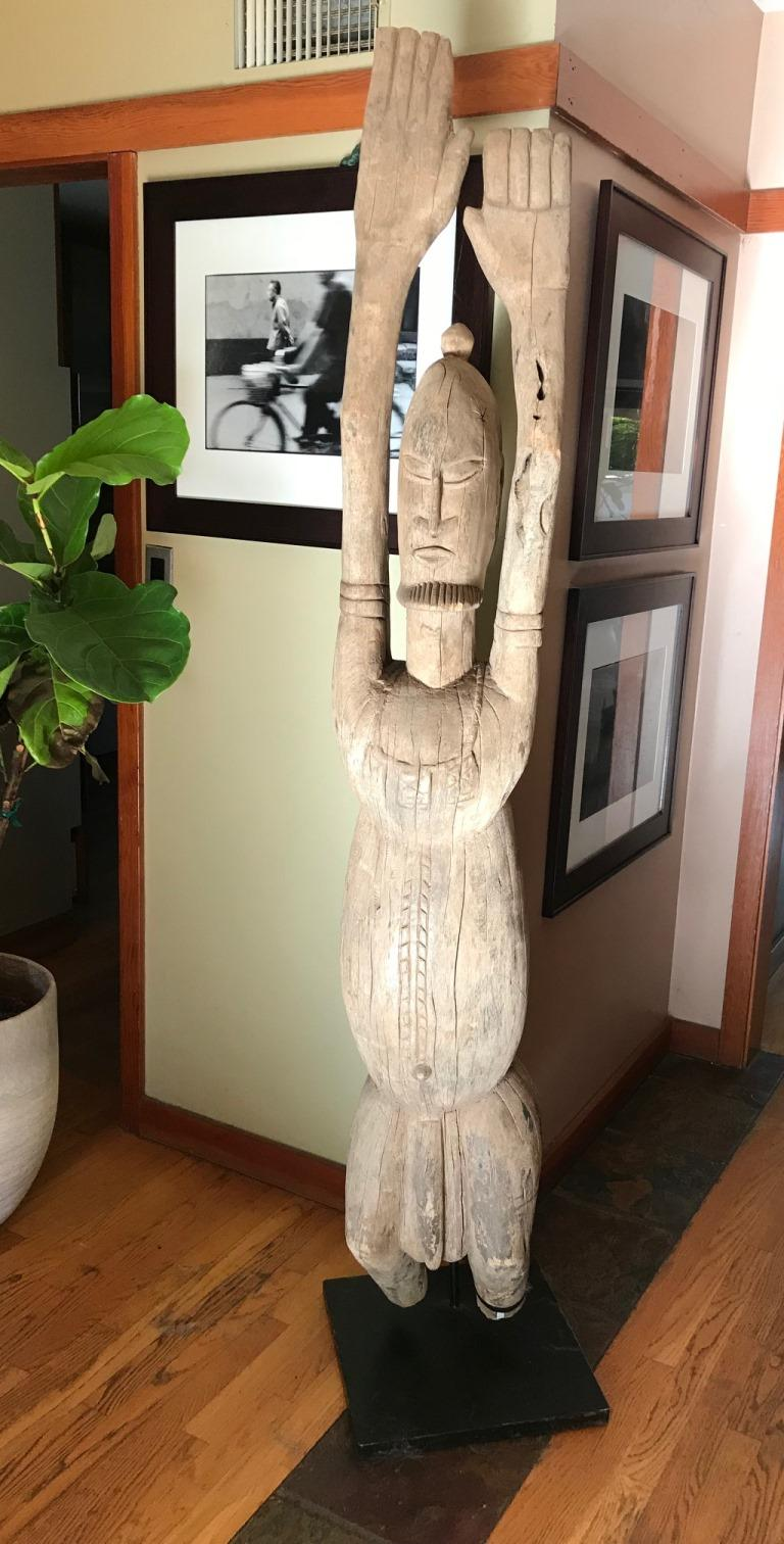 Large African or Dogon Carved Tintam Figure For Sale 4