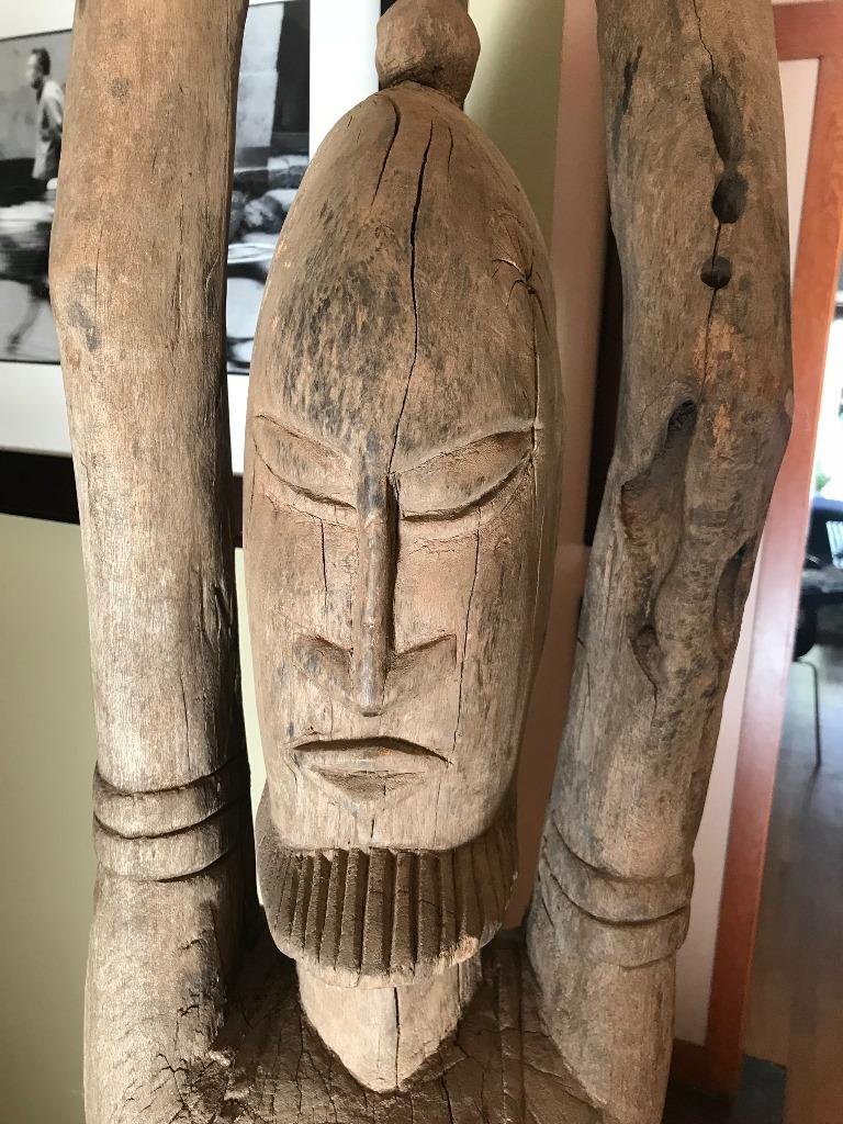 Tribal Large African or Dogon Carved Tintam Figure For Sale
