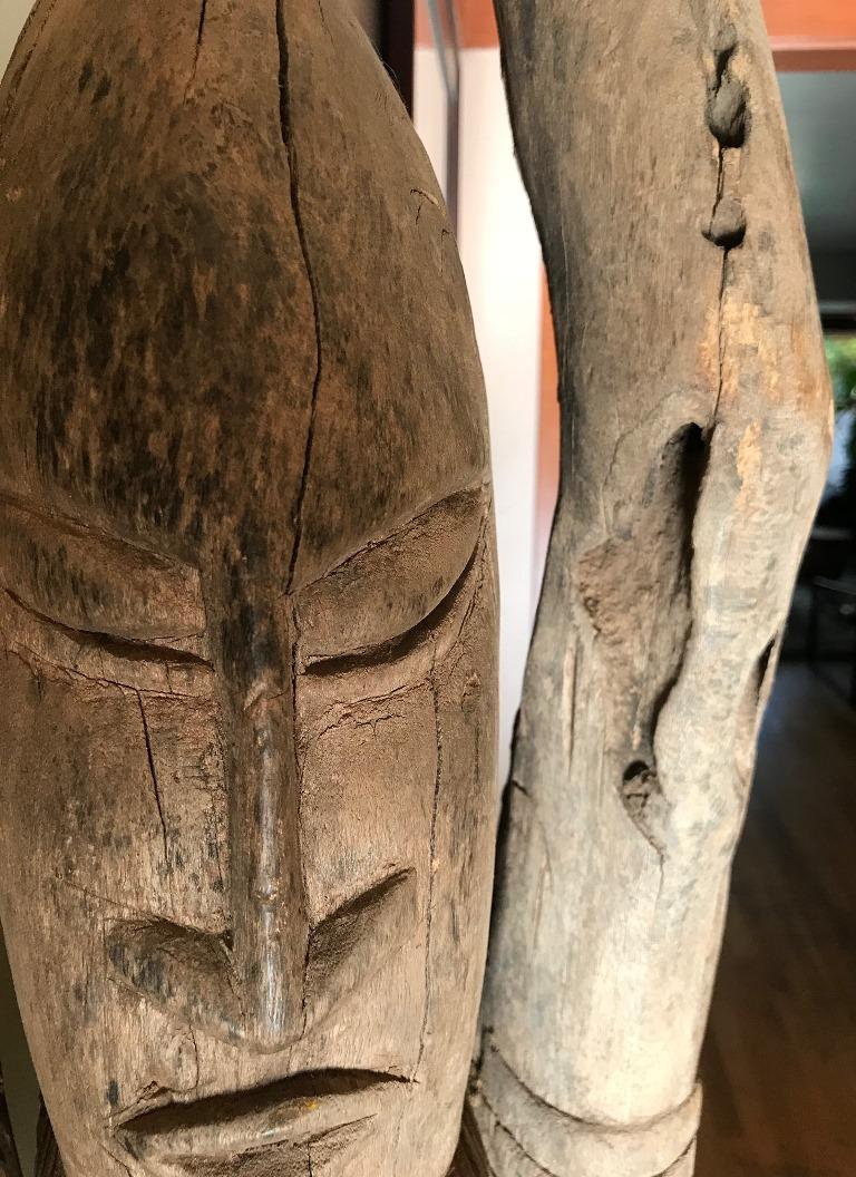 Hand-Carved Large African or Dogon Carved Tintam Figure For Sale