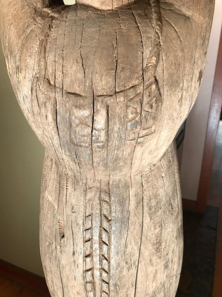 20th Century Large African or Dogon Carved Tintam Figure For Sale