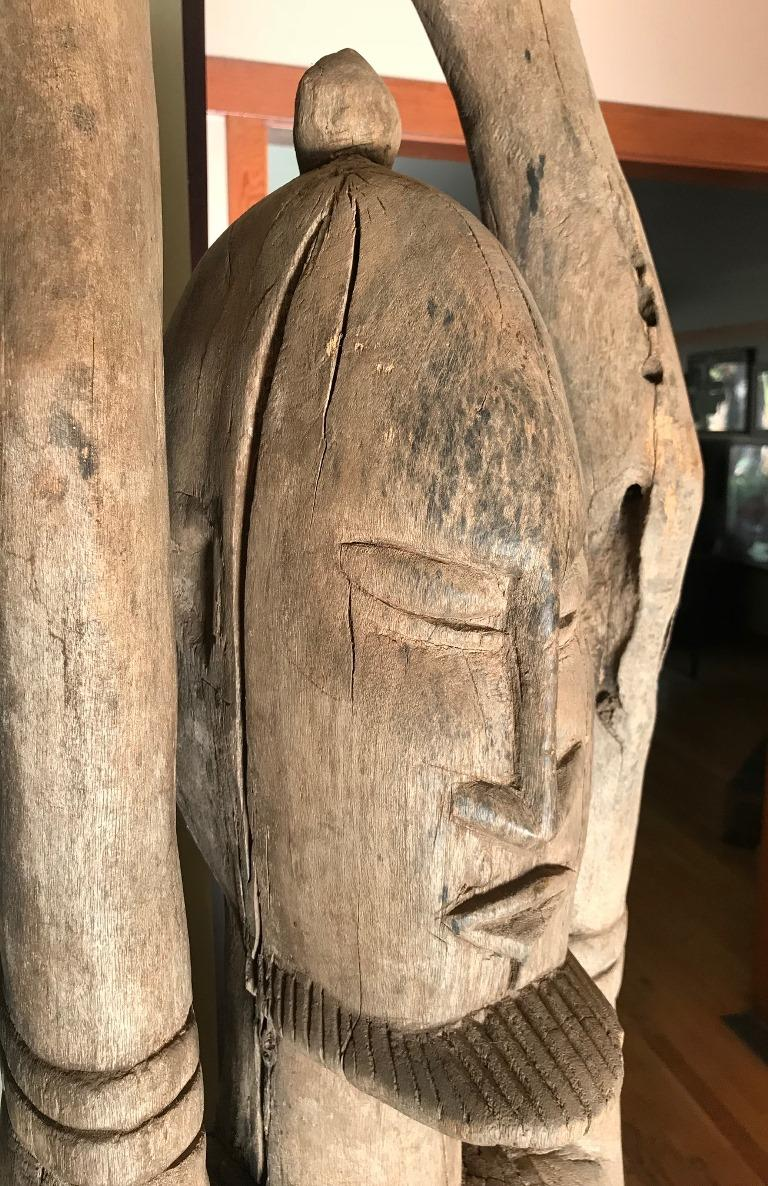 Large African or Dogon Carved Tintam Figure For Sale 1