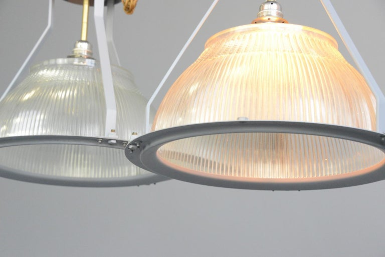 Large Aircraft Hanger Lights by Holophane, circa 1940s For Sale 2