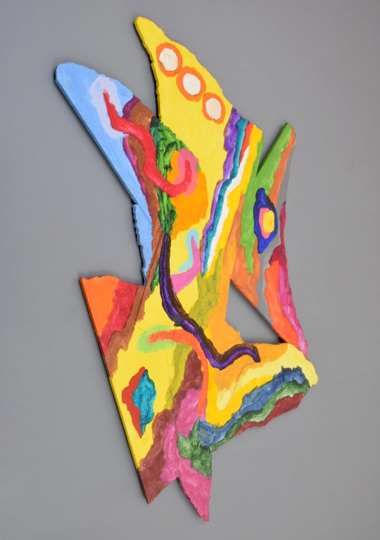 Late 20th Century Large Alexander Liberman Painting For Sale