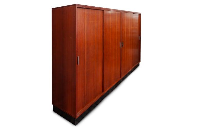 Belgian Large Alfred Hendrickx Four Doors Wardrobe/ Cabinet, 1962 Belgium For Sale