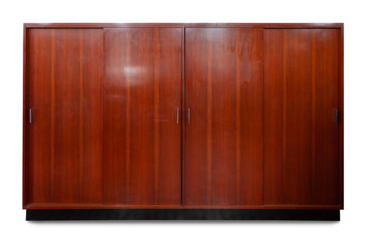 Mid-20th Century Large Alfred Hendrickx Four Doors Wardrobe/ Cabinet, 1962 Belgium For Sale