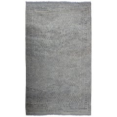 Large All-Over Tribal Modern Kilim in Silvers and Browns