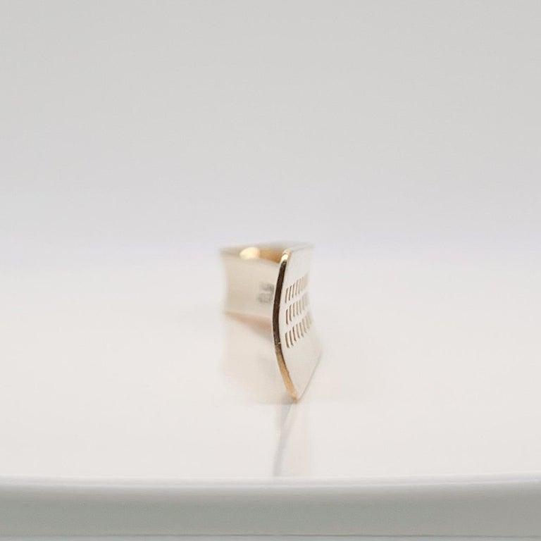 Large Allan Adler California Modernist 14k Gold Tie Bar or Money Clip For Sale 6