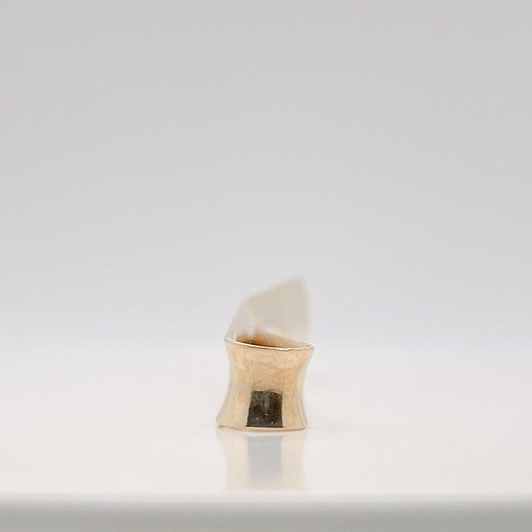 Large Allan Adler California Modernist 14k Gold Tie Bar or Money Clip For Sale 1