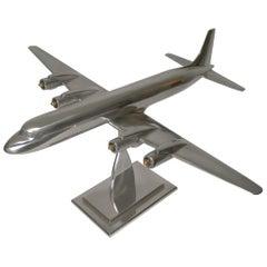 Large Aluminium Douglas DC-7 Model Airplane, circa 1953